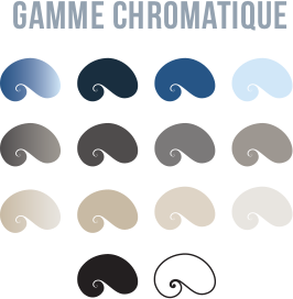 accueil nouveau site gamme chromatique du logo des Oceanides Création